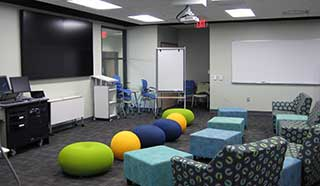 Incubator Classroom showing multiple seating options